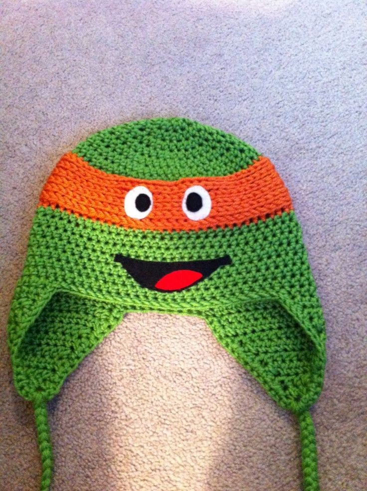 Crochet Ninja Turtle Hat Awesome Crochet Ninja Turtle Hats Free Patterns Of Innovative 46 Pictures Crochet Ninja Turtle Hat