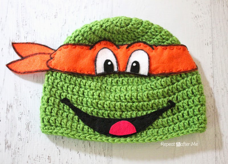Crochet Ninja Turtle Hat Best Of Crochet Ninja Turtle Hat Pattern Repeat Crafter Me Of Innovative 46 Pictures Crochet Ninja Turtle Hat