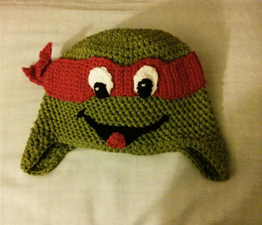 990 crocheted inspired ninja turtle hat