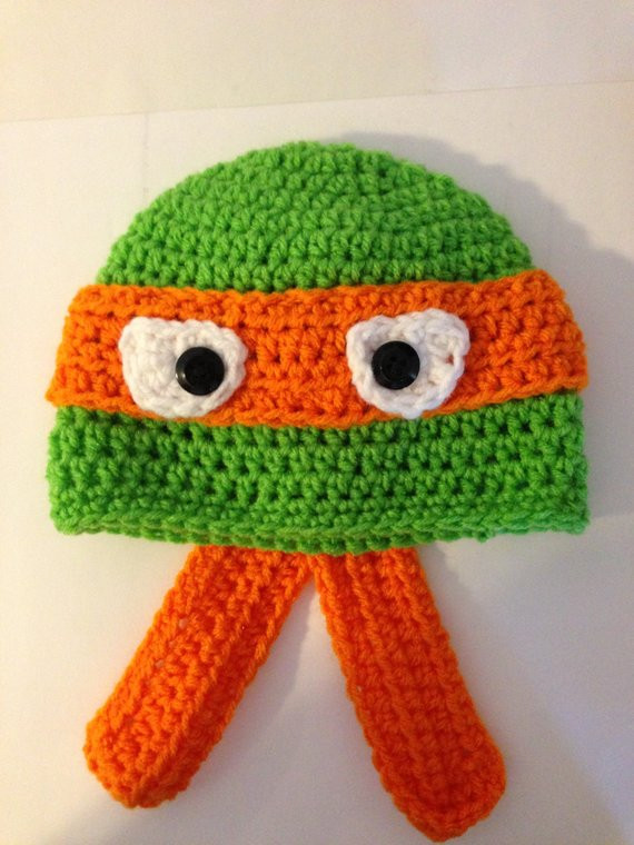 Crochet Ninja Turtle Hat Fresh Ninja Turtle Crochet Hat Pattern From Grammabeans On Etsy Of Innovative 46 Pictures Crochet Ninja Turtle Hat