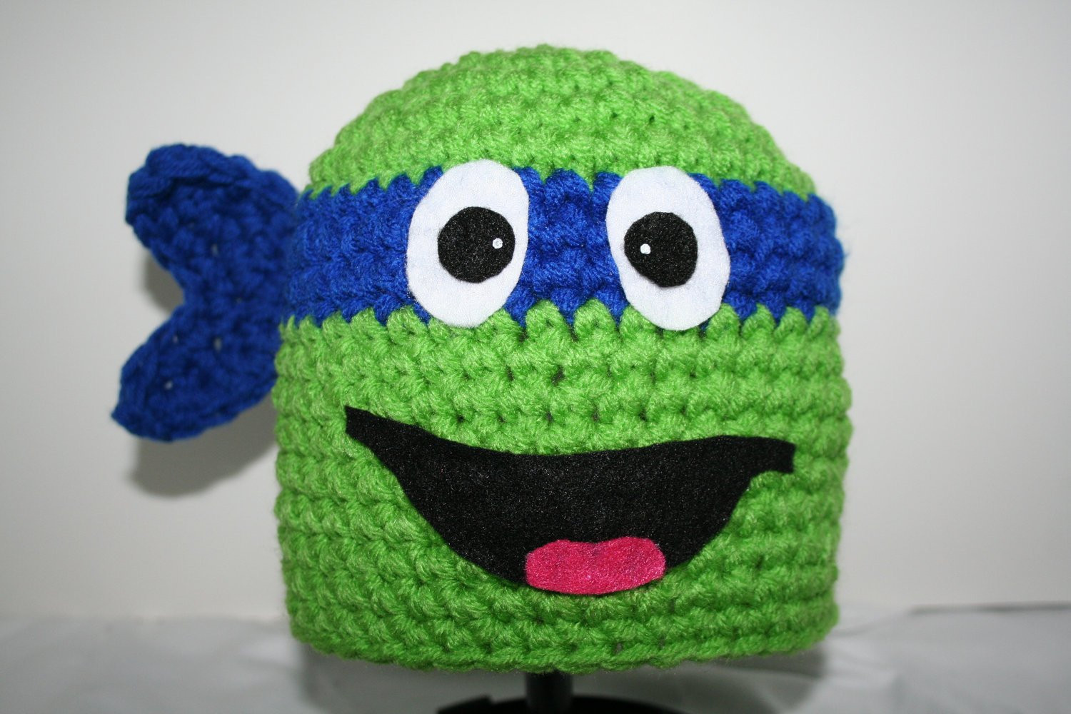 Crochet Ninja Turtle Hat Inspirational Blue Ninja Turtle Hat Handmade Crocheted Character Hat Of Innovative 46 Pictures Crochet Ninja Turtle Hat