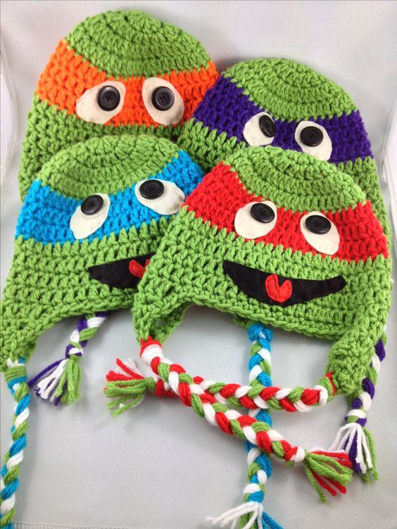 Crochet Ninja Turtle Hat Lovely Crochet Ninja Turtles Beanie Hat Kids Of Innovative 46 Pictures Crochet Ninja Turtle Hat