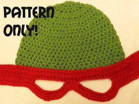 Free Crochet Pattern Teenage Mutant Ninja Turtle Hat