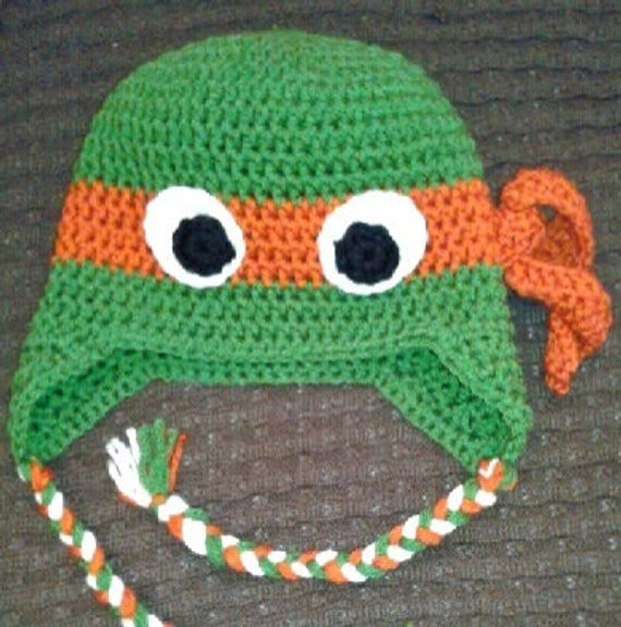 Crochet Ninja Turtle Hat New Teenage Mutant Ninja Turtle Crochet Hat Ear by Kamillascrochet Of Innovative 46 Pictures Crochet Ninja Turtle Hat
