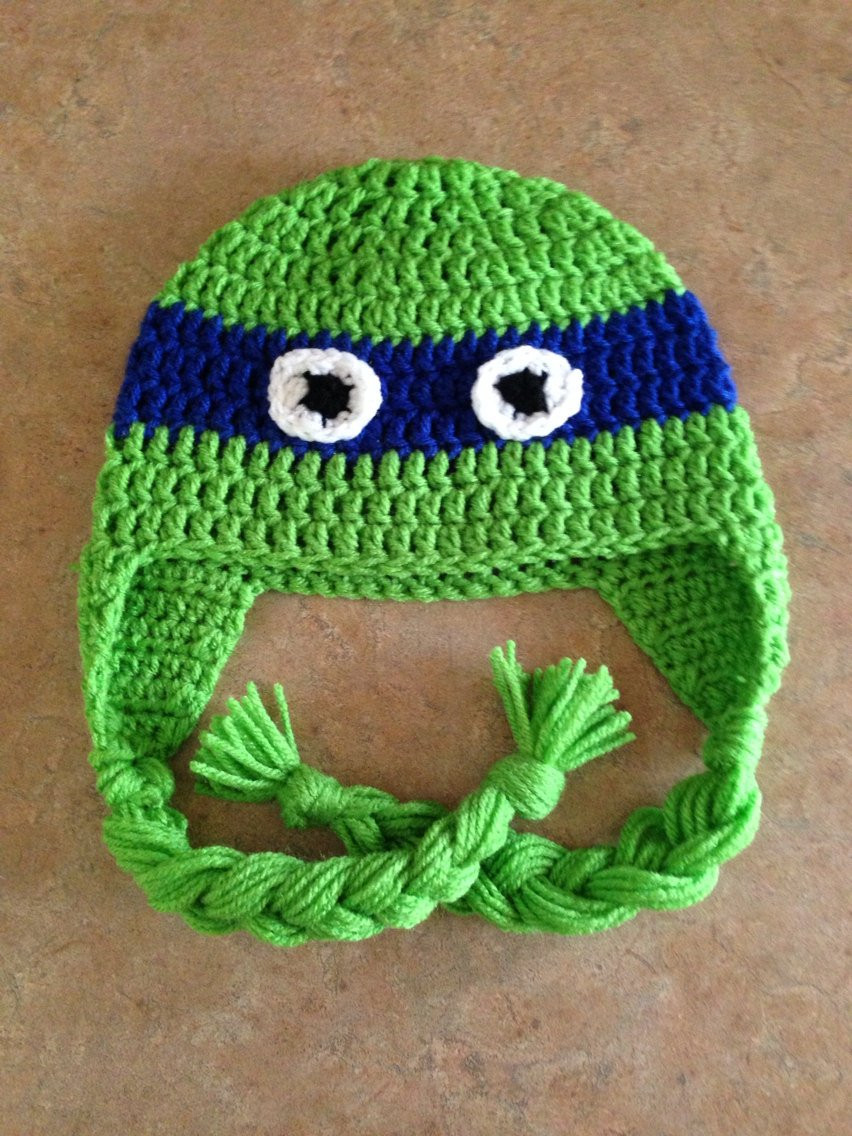 Crochet Ninja Turtle Hat New Tmnt Teenage Mutant Ninja Turtles Crochet Hat Newborn Infant Of Innovative 46 Pictures Crochet Ninja Turtle Hat