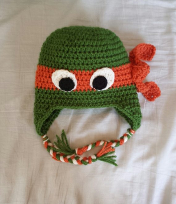 Crochet Ninja Turtle Hat Unique Teenage Mutant Ninja Turtle Crochet Hat Ear Flaps W Braided Of Innovative 46 Pictures Crochet Ninja Turtle Hat