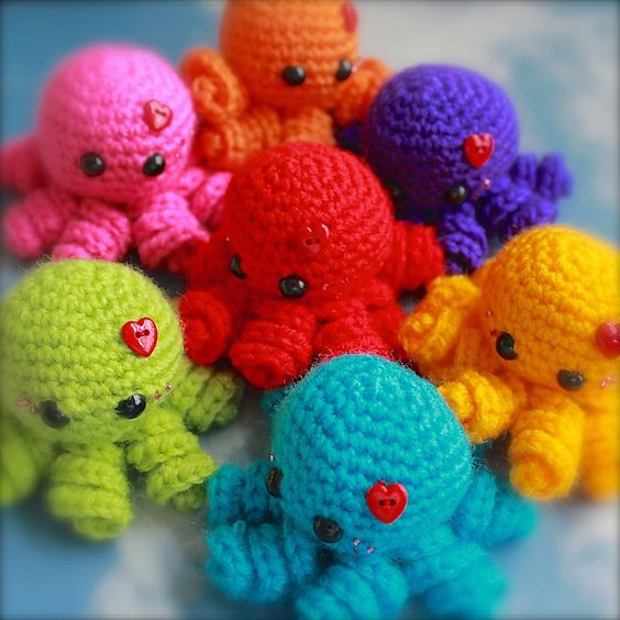 Crochet Octopus Pattern Awesome Ravelry Mini Amigurumi Octopus Pattern by Sarah Hearn Of Amazing 50 Photos Crochet Octopus Pattern