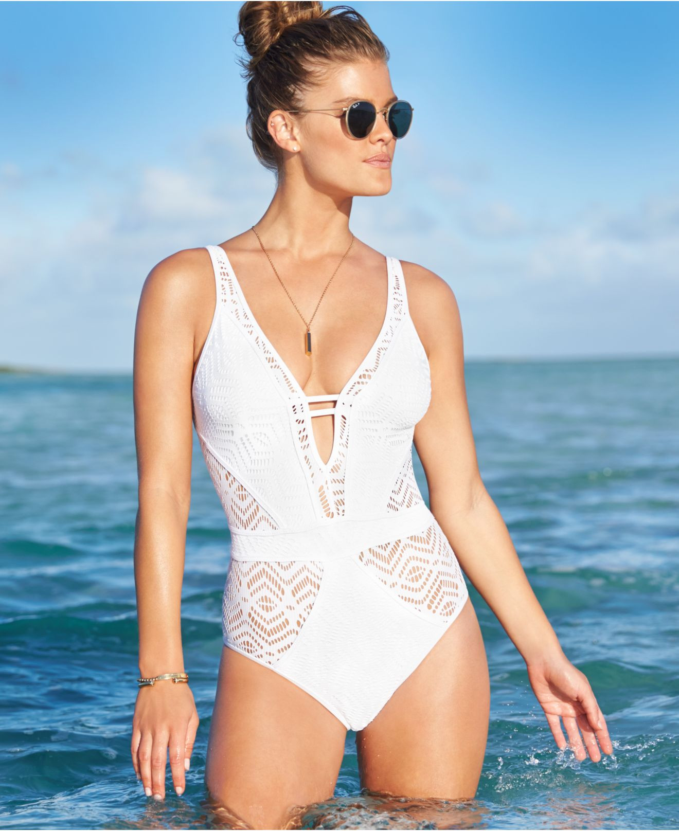 Crochet One Piece Luxury Lyst Becca Crochet E Piece Swimsuit In White Of Marvelous 47 Pictures Crochet One Piece