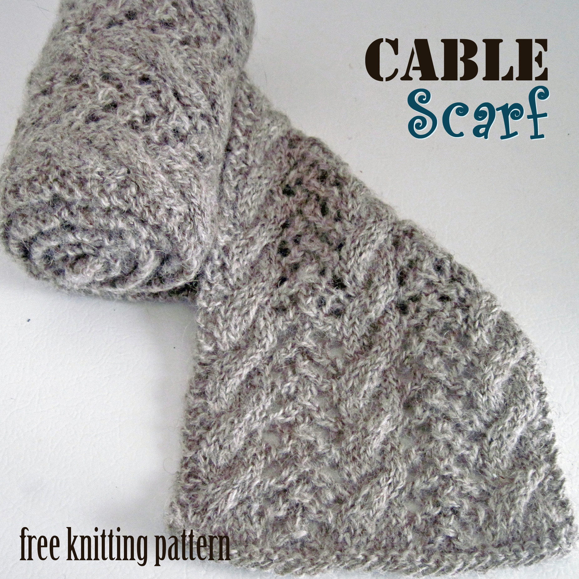cable crochet scarf pattern