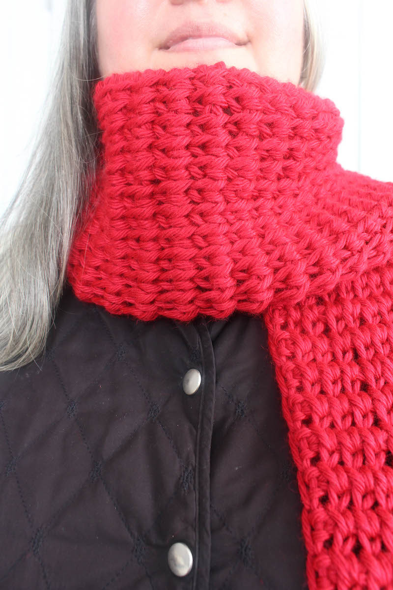 free pattern tunisian extended knit scarf