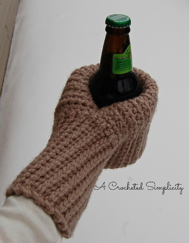"Crochet or Knit Awesome ""knot Knit"" Coffee & Drink Mitt Crochet Pattern by Of Superb 42 Pics Crochet or Knit"
