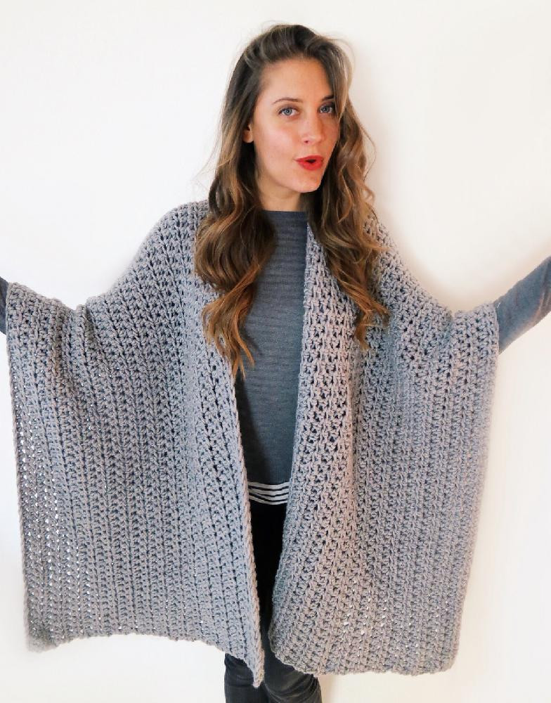 Crochet or Knit Fresh Blanket Ruana Poncho Of Superb 42 Pics Crochet or Knit