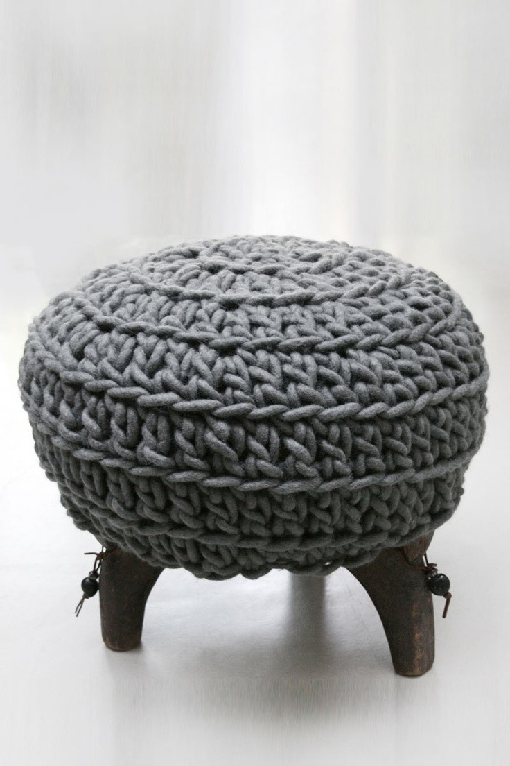 Crochet Ottoman Awesome 17 Best Images About Crochet Cushions Foot Stools Of Incredible 42 Ideas Crochet Ottoman