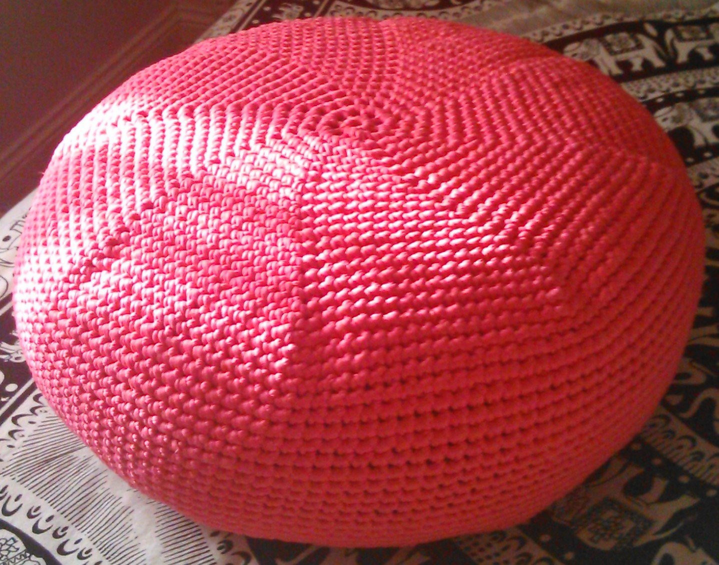 Crochet Ottoman Awesome Knitted Crochet Pouf Pouffe Pink Ottoman Footstool In Deep Hot Of Incredible 42 Ideas Crochet Ottoman