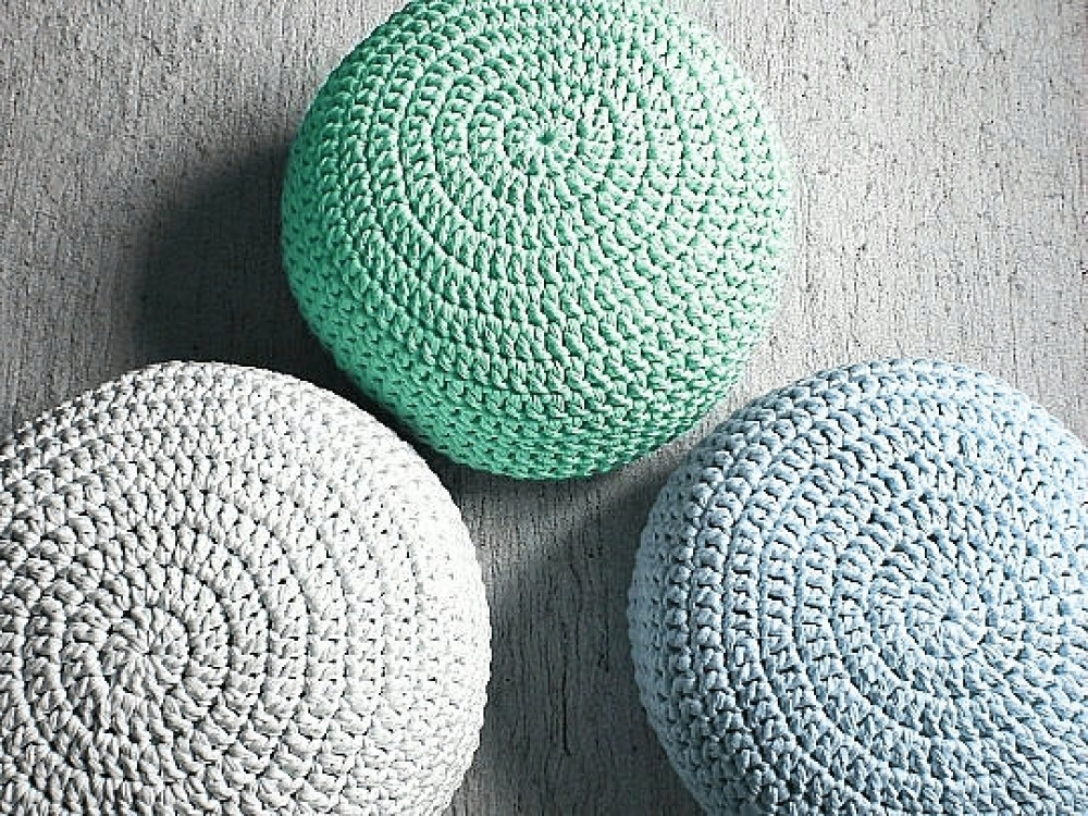 Crochet Ottoman Awesome Mint Crochet Pouf Ottoman Nursery Foot Stool Pouf Of Incredible 42 Ideas Crochet Ottoman