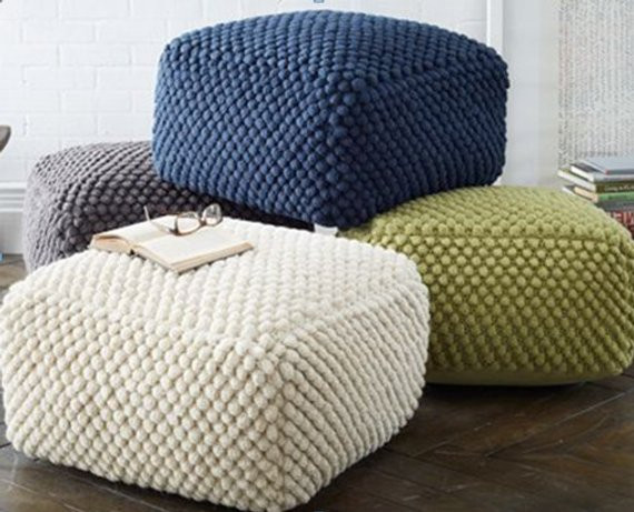 Crochet Ottoman Best Of Crochet Grey White Blue Green Pouf Ottoman Knit Stuffed Of Incredible 42 Ideas Crochet Ottoman