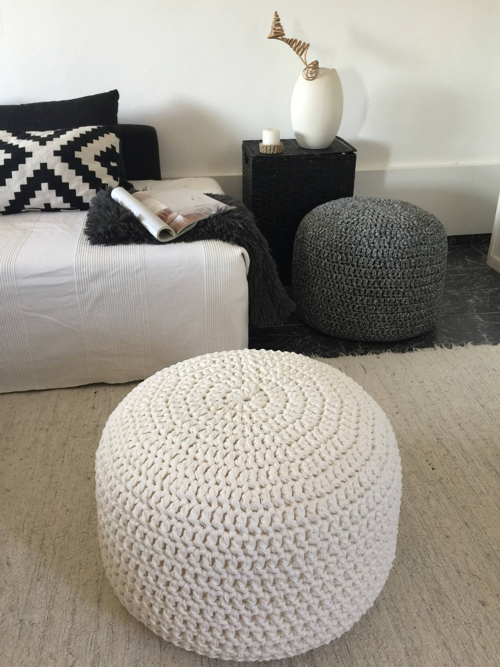 Crochet Ottoman Elegant Crochet Round Pouf Ottoman Nursery Footstool Pouf Of Incredible 42 Ideas Crochet Ottoman