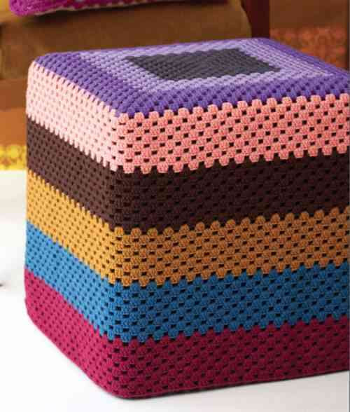 Crochet Ottoman Fresh 20 Things You Can Do with A Granny Square Of Incredible 42 Ideas Crochet Ottoman