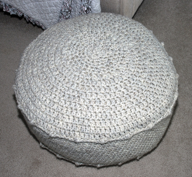 Crochet Ottoman Fresh Crocheted Ottoman Of Incredible 42 Ideas Crochet Ottoman