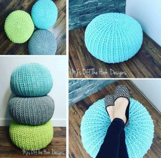 Crochet Ottoman Inspirational Crochet Floor Pouf and Ottoman Free Patterns Of Incredible 42 Ideas Crochet Ottoman