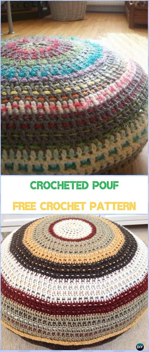 Crochet Ottoman Inspirational Crochet Poufs & Ottoman Free Patterns & Diy Tutorials Of Incredible 42 Ideas Crochet Ottoman