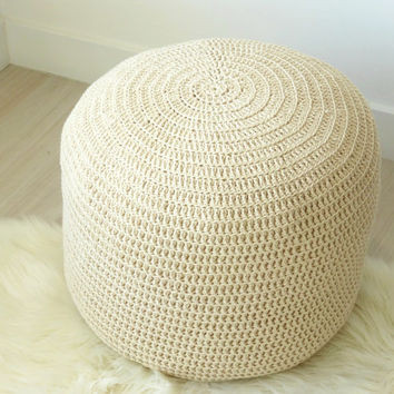 Crochet Ottoman Inspirational Shop Crocheted Pouf Ottoman On Wanelo Of Incredible 42 Ideas Crochet Ottoman