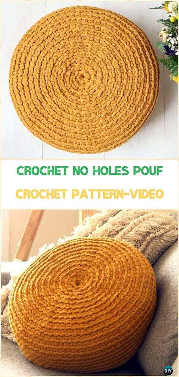 Crochet Ottoman Lovely Crochet Poufs & Ottoman Free Patterns & Diy Tutorials Of Incredible 42 Ideas Crochet Ottoman
