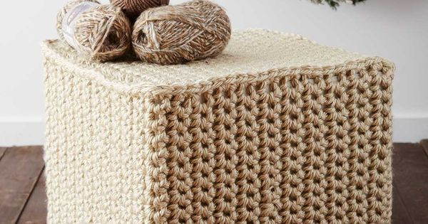 Crochet Ottoman Lovely Yarnspirations Bernat Mega Crochet Ottoman Of Incredible 42 Ideas Crochet Ottoman