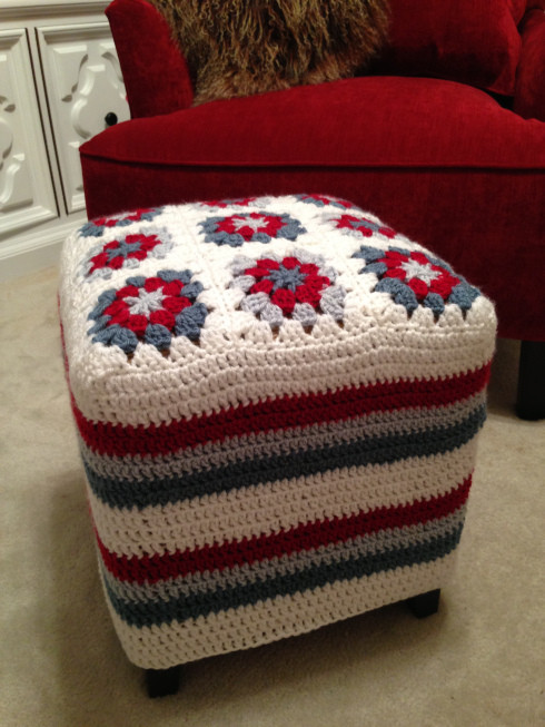 Crochet Ottoman Luxury Crocheted Ottoman Cover Of Incredible 42 Ideas Crochet Ottoman