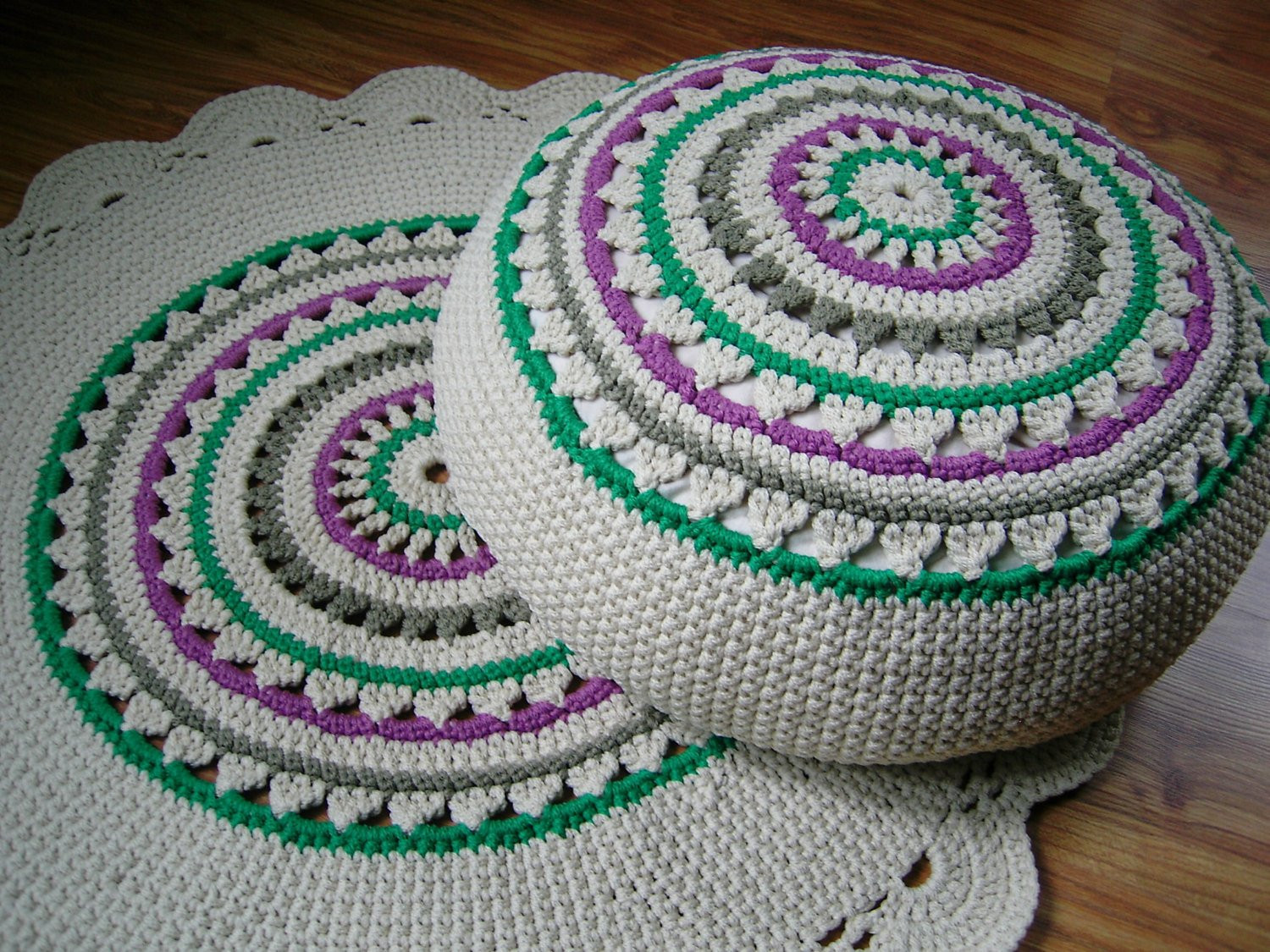Crochet Ottoman New Crochet Pouf Ottoman Floor Cushion Eco by Crochetfolkart Of Incredible 42 Ideas Crochet Ottoman