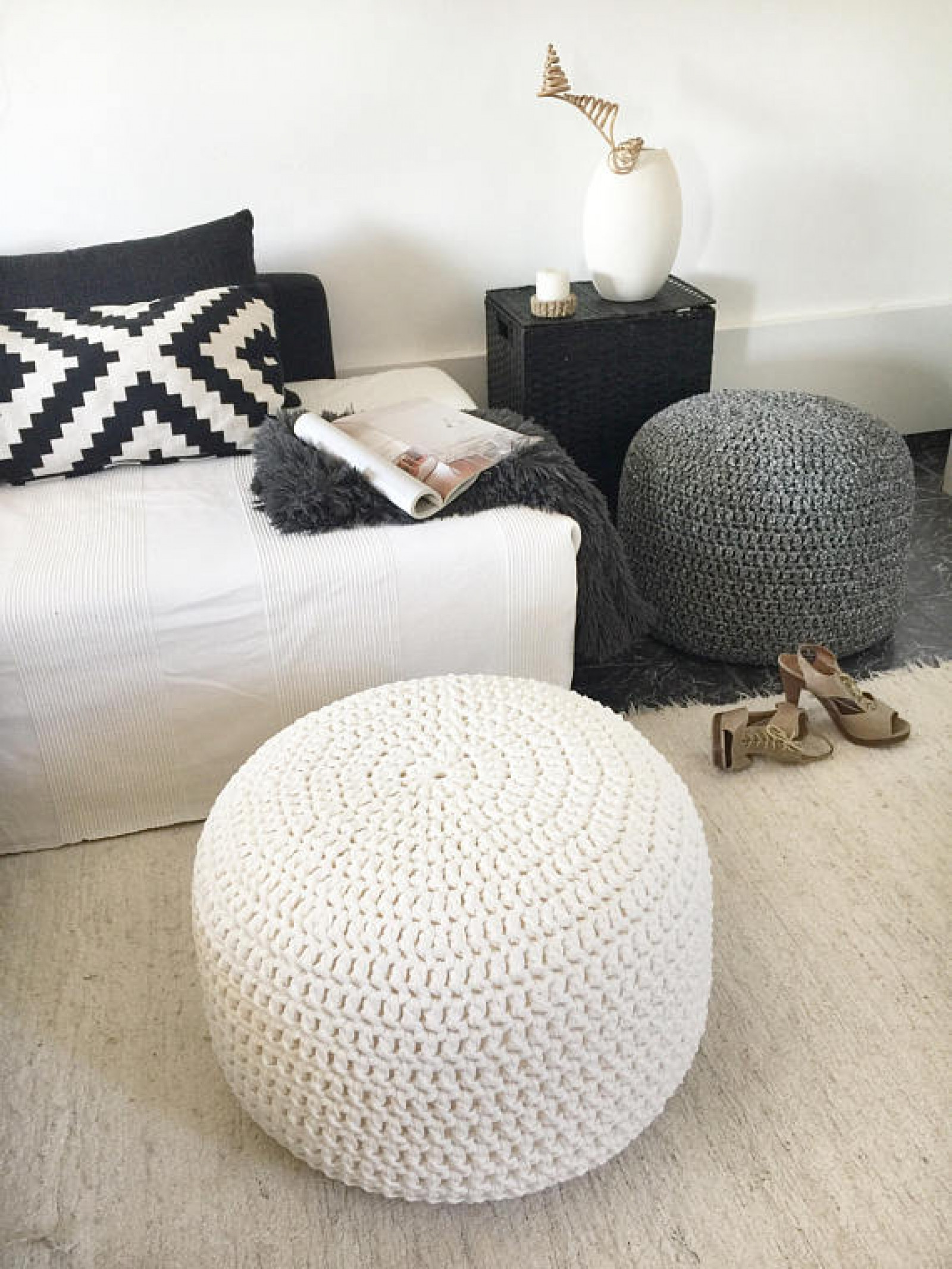 Crochet Ottoman New Crochet Round Pouf Ottoman Nursery Footstool Pouf Of Incredible 42 Ideas Crochet Ottoman