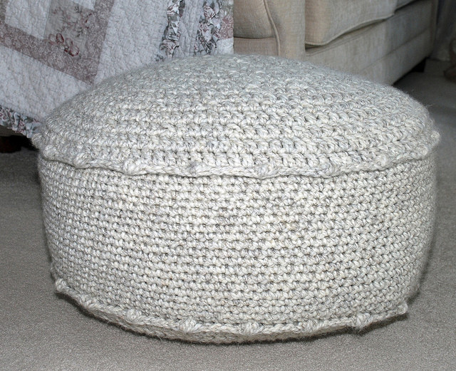 Crochet Ottoman New Crocheted Ottoman Of Incredible 42 Ideas Crochet Ottoman