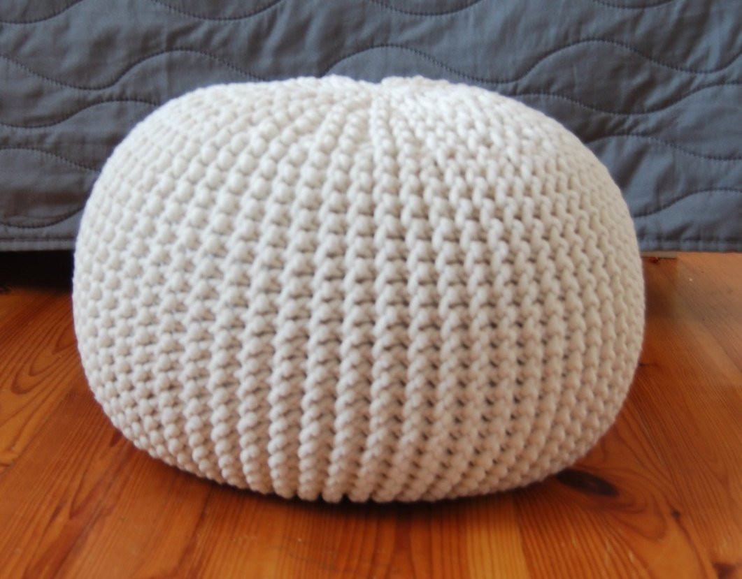Crochet Ottoman New Knitted Pouf Colours Ecru Seat Crochet Pouf Ottoman Of Incredible 42 Ideas Crochet Ottoman