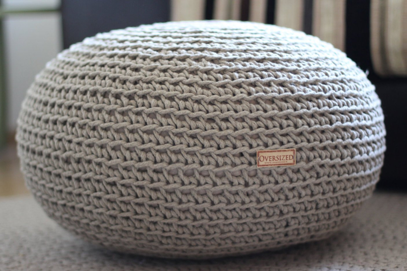 Crochet Ottoman New organic Crochet Pouf Linen Pouf Knit Pouf Floor Cushion Of Incredible 42 Ideas Crochet Ottoman