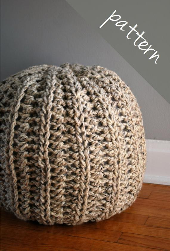 Crochet Ottoman Unique Crochet Pattern Crochet Pouf Ottoman Floor Pillow Of Incredible 42 Ideas Crochet Ottoman