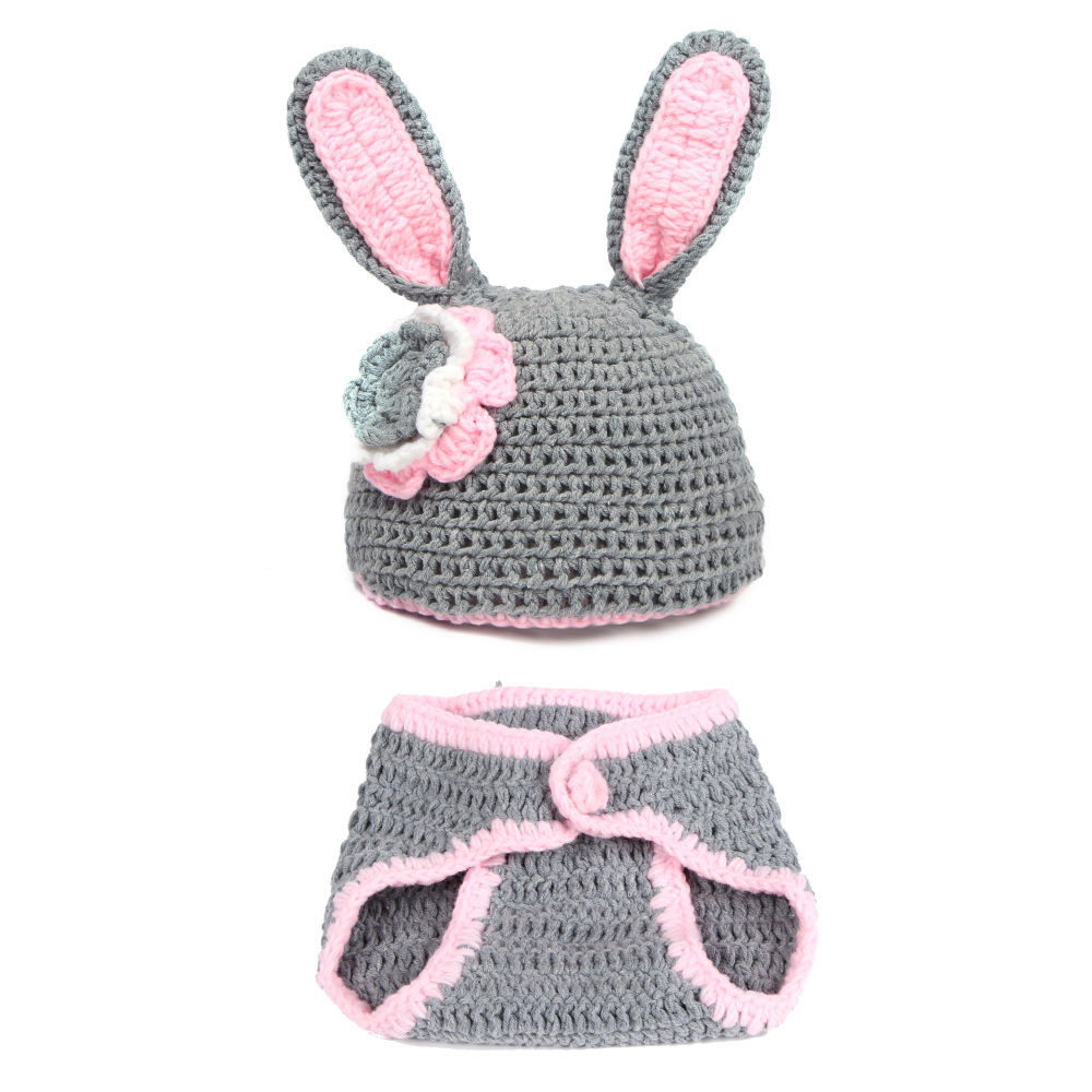 Crochet Outfit Awesome Gray Rabbit Baby Graphy Prop Clothes Crochet Hat Of Gorgeous 41 Ideas Crochet Outfit