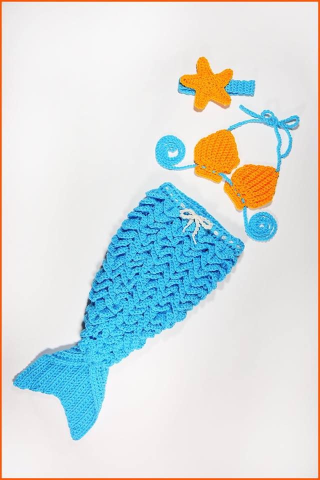 how to crochet tutorial mermaid outfit for a baby