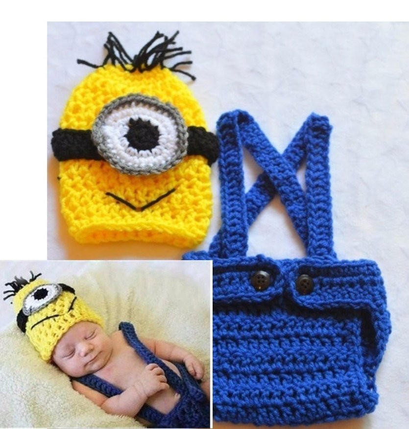 Crochet Outfit Elegant Baby Boy Minion Outfit Crochet Minion Outfit by Childishdreams Of Gorgeous 41 Ideas Crochet Outfit