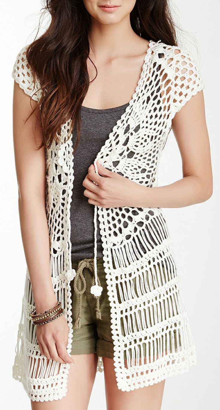 Crochet Outfit Fresh 1547 Best Chalecos Images On Pinterest Of Gorgeous 41 Ideas Crochet Outfit