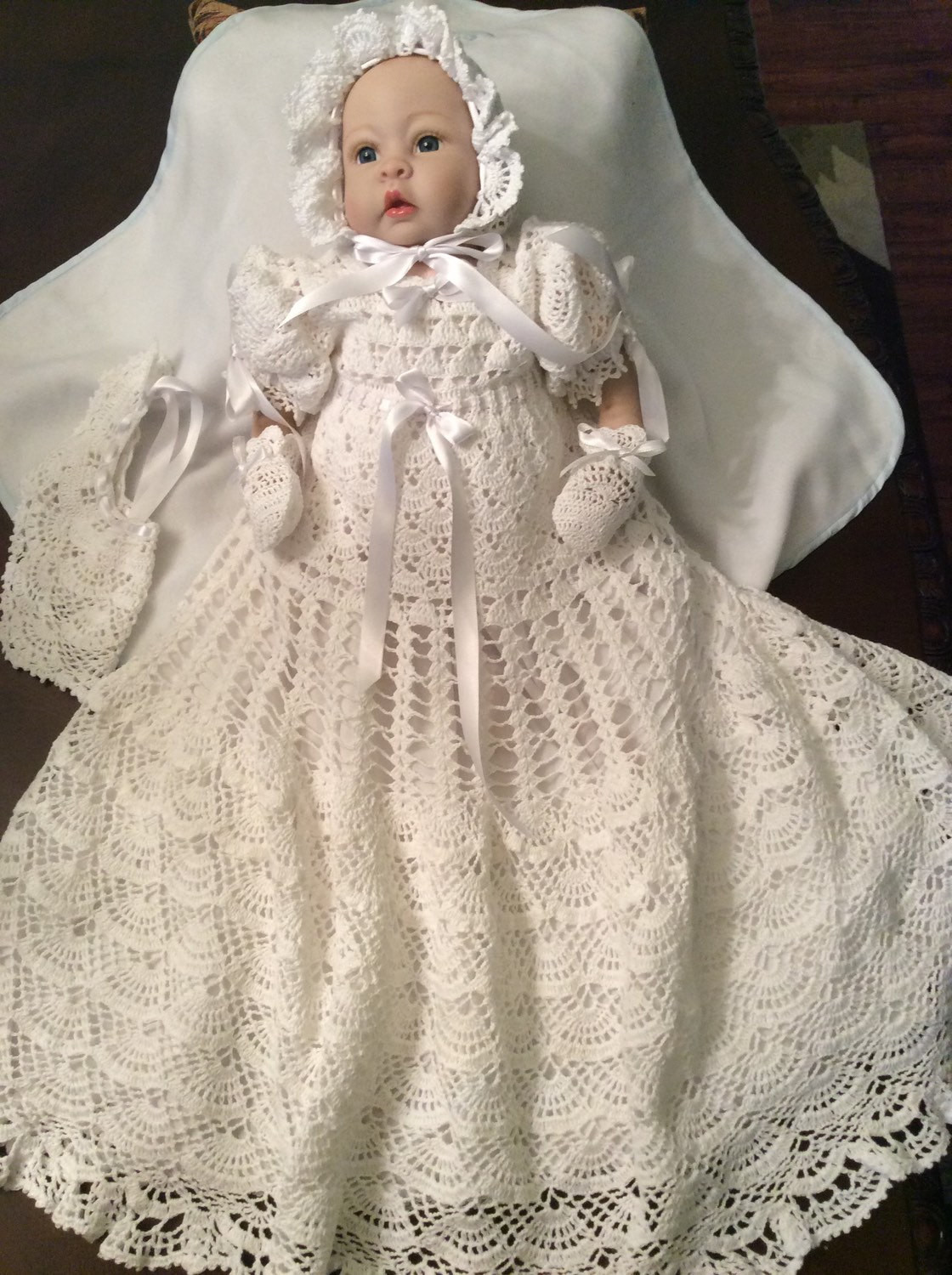 Crochet Outfit New Hand Crochet Christening Gown Blessing Gown Baptism Dress Of Gorgeous 41 Ideas Crochet Outfit