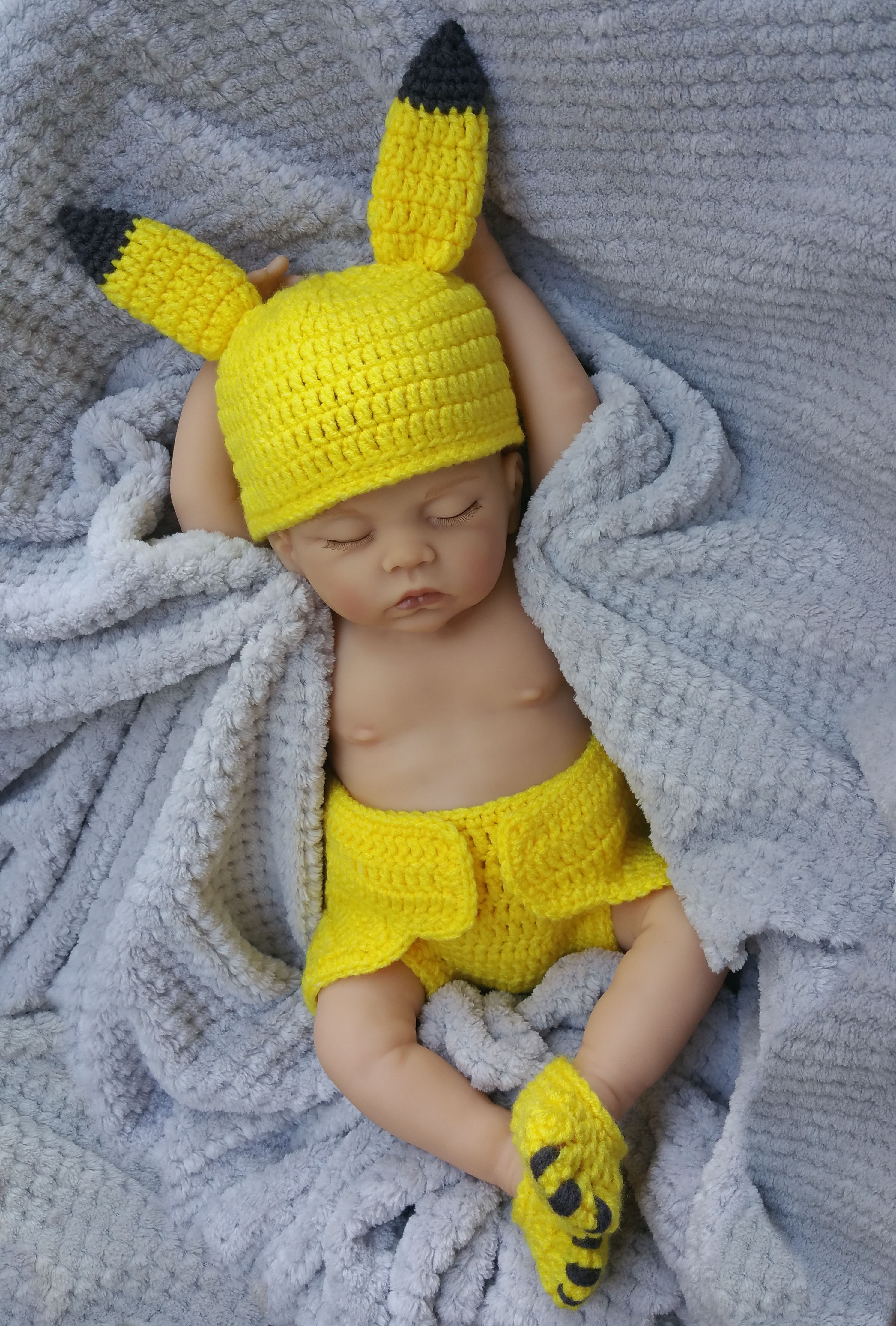 Crochet Outfits Awesome Yellow Pocket Monster Crochet Baby Boy Girl Costume Of Great 42 Ideas Crochet Outfits