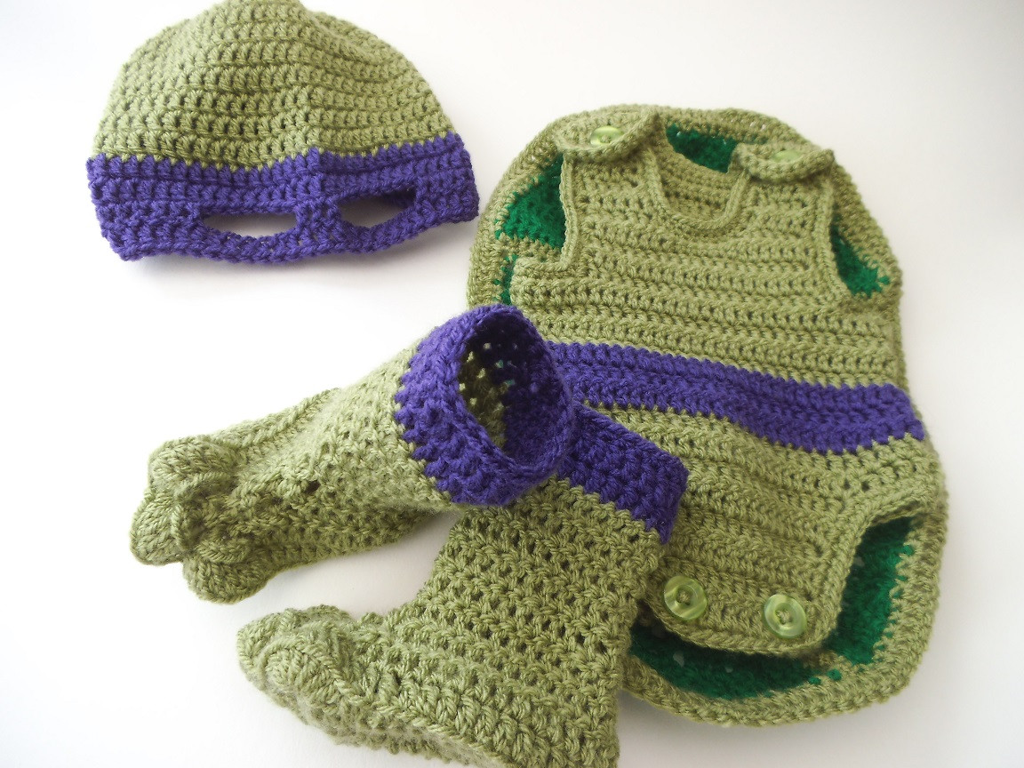 Turtle Crochet Baby Outfit