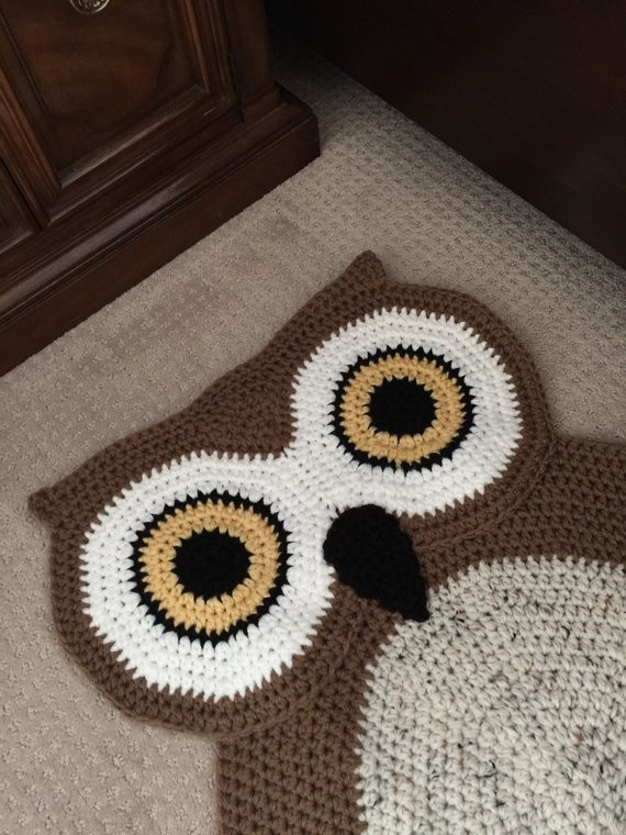 Crochet Oval Rug Beautiful Crochet Oval Owl Rug Of Charming 49 Images Crochet Oval Rug