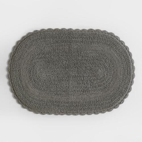 Crochet Oval Rug Beautiful Gray Oval Crochet Bath Mat Of Charming 49 Images Crochet Oval Rug