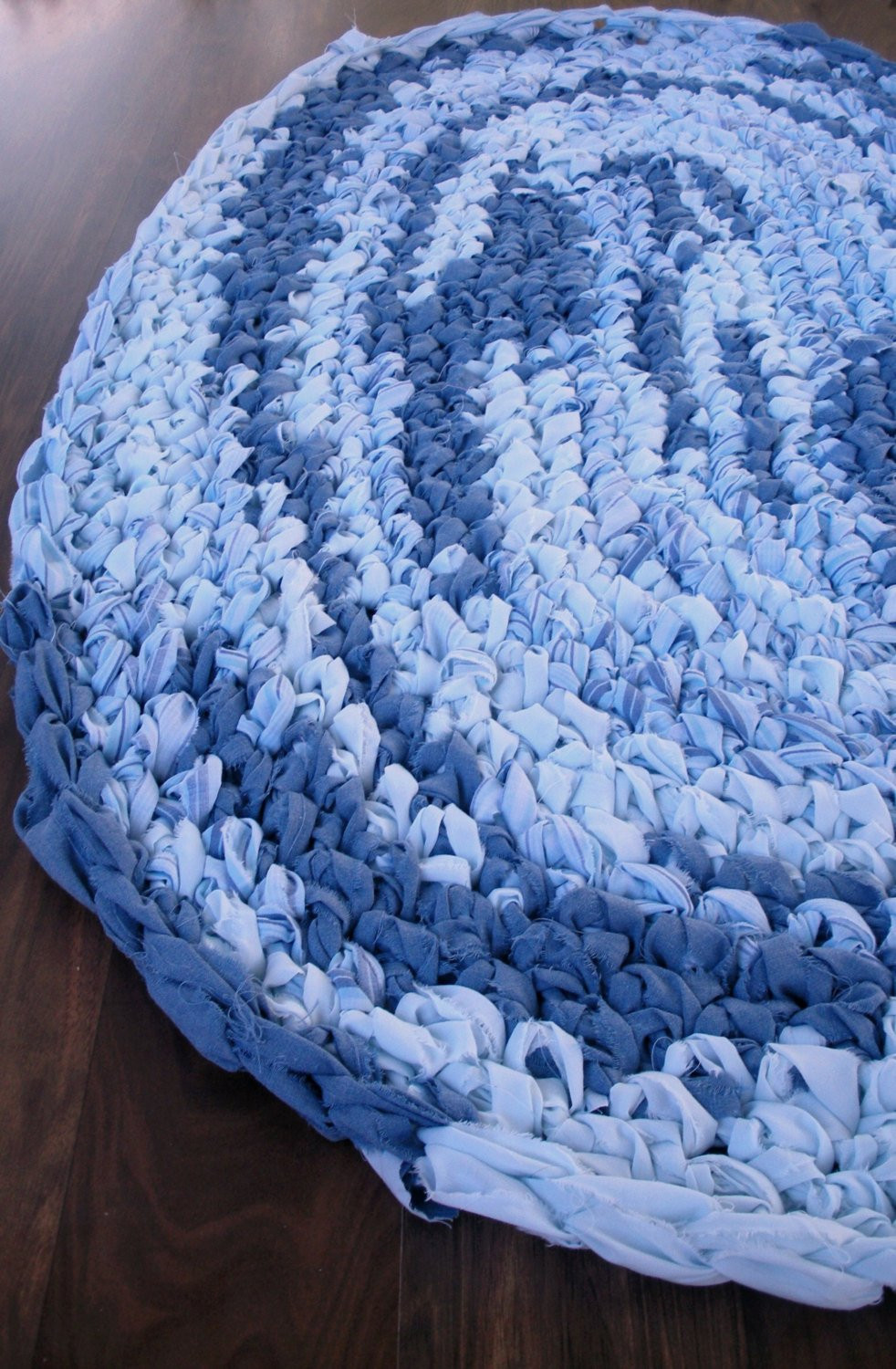 Crochet Oval Rug Best Of 40×28 Hand Crocheted Blue Oval Rag Rug Braided Of Charming 49 Images Crochet Oval Rug