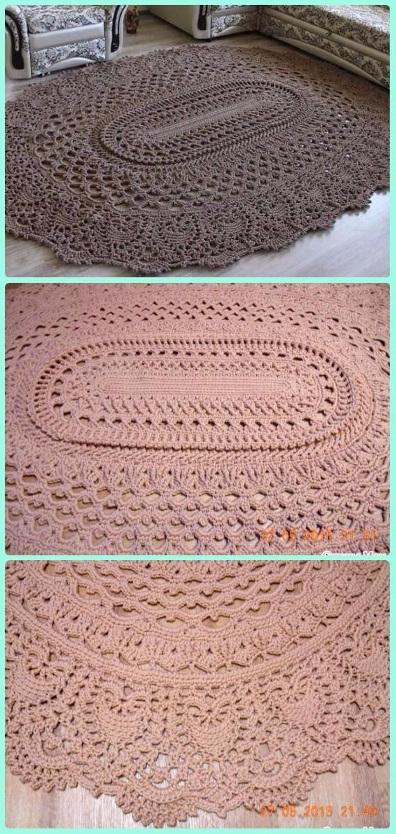 Crochet Oval Rug Lovely 16 Diy Crochet area Rug Ideas with Free Patterns Of Charming 49 Images Crochet Oval Rug