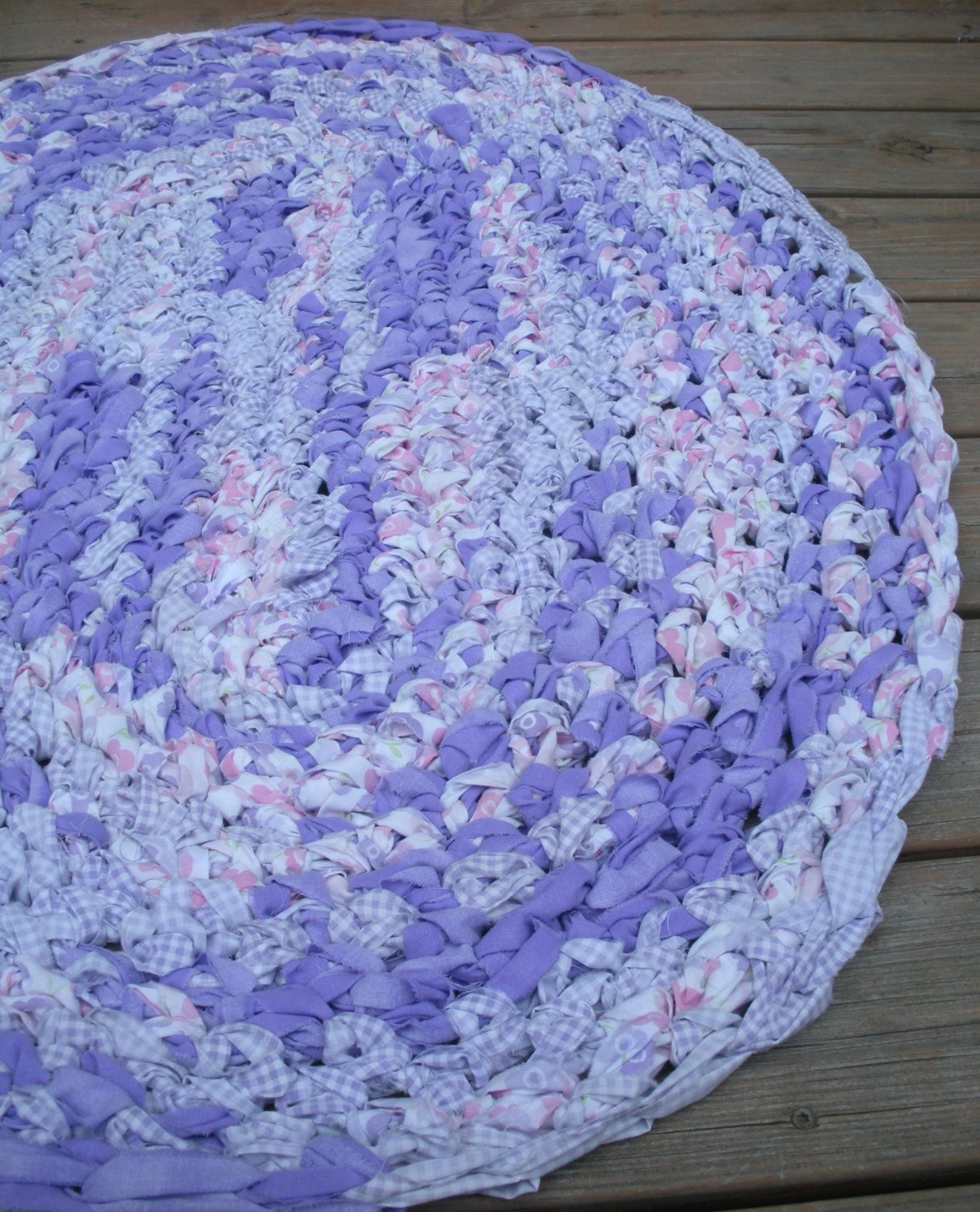 Crochet Oval Rug Lovely 40×28 Hand Crocheted Oval Rag Rug Purple Pink by Of Charming 49 Images Crochet Oval Rug