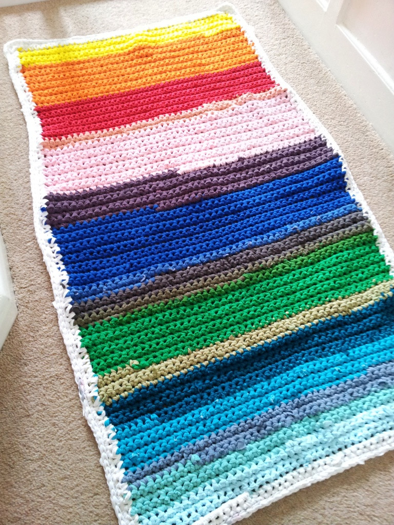 Crochet Oval Rug New Crochet Rainbow Rag Rug ⋆ Look at What I Made Of Charming 49 Images Crochet Oval Rug