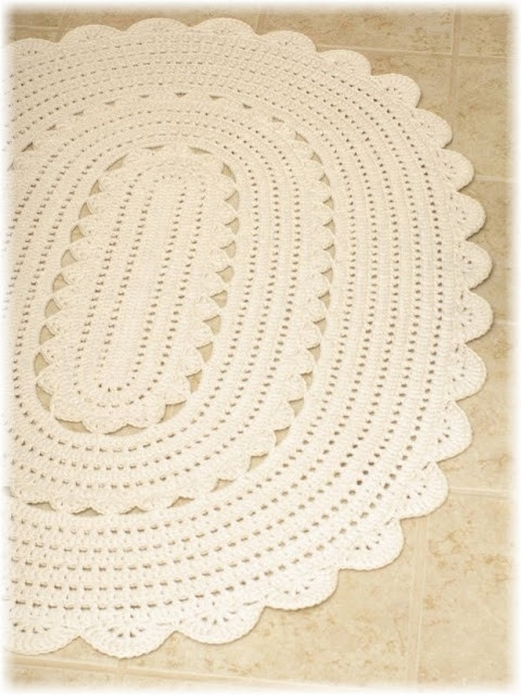 Crochet Oval Rug New Handy Crafter Freshly Finished Oval Crocheted Of Charming 49 Images Crochet Oval Rug