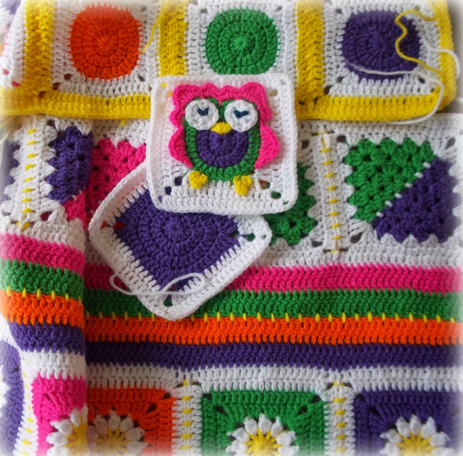 Crochet Owl Blanket Beautiful Zooty Owl S Crafty Blog Zooty Owl Square Baby Groovyghan Of Contemporary 43 Images Crochet Owl Blanket
